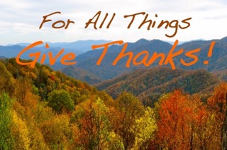 For all things, give thanks!