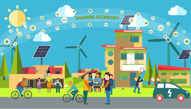 Uncredited image representing sharing economy