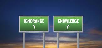 Ignorance vs. knowledge