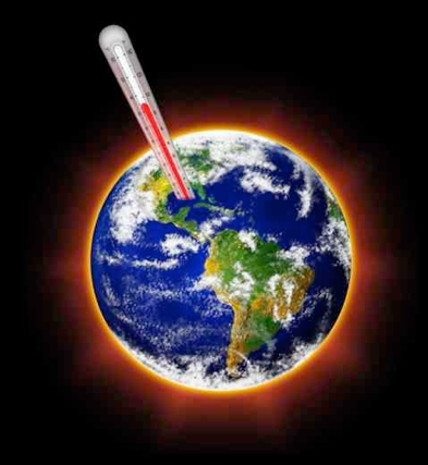 Earth with a thermometer