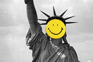 Statue of Liberty with a Smiley face